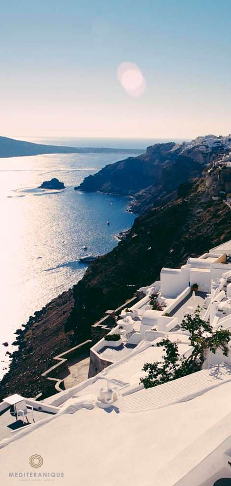 Views over the cliffs of Oia. For luxury hotels in Santorini visit http://www.mediteranique.com/hotels-greece/santorini/