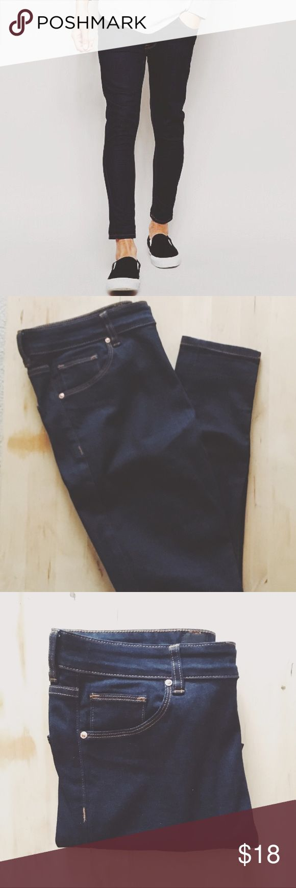 ASOS | Extreme Super Skinny Ankle Grazer Jeans Very skinny/ tight fit. Waist 32. Indigo. Never worn. ASOS Jeans Skinny