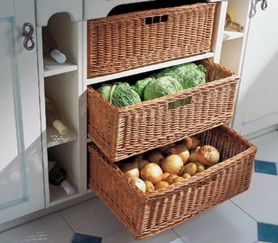 Eco friendly food storage ideas and fresh produce storage solutions keep food nutritious for longer time, save energy and improve kitchen design by adding Green designs to modern homes
