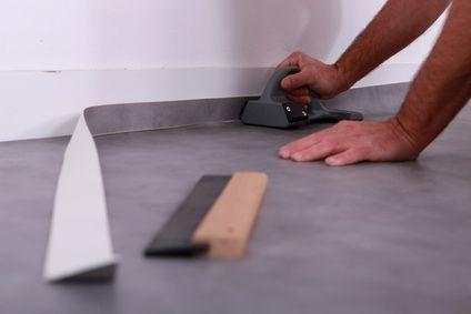 Pose lino sur plancher chauffant