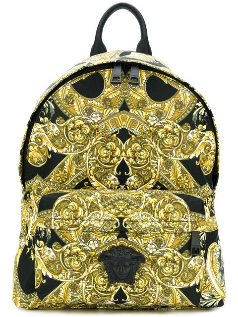 64f3440ceb VERSACE Baroque printed backpack.  versace  bags  nylon  backpacks ...