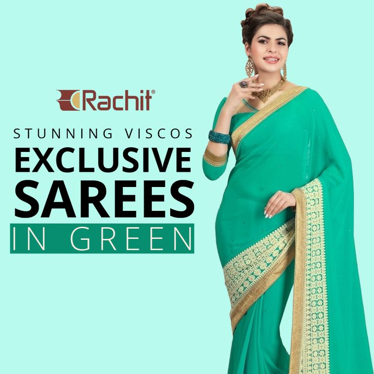 Flaunt your inner beauty wearing this stunning viscos exclusive sarees in green.  #sarees #beauty #viscose