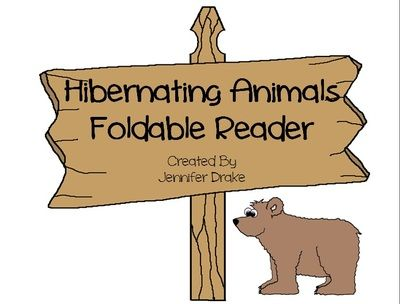 Hibernation Foldable Reader from Jennifer Drake on TeachersNotebook.com (6 pages)  - Are your students learning about hibernation? Would you like an easy to make foldable reader to review animals that hibernate? Here it is! Simply download, print, copy, fold & its ready to go!  Cut, glue & color animals into the reader or have stu