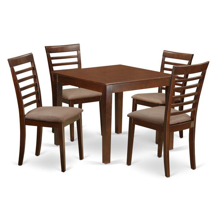 Cobleskill 5 Piece Solid Wood Dining Set Solid Wood Dining Set Dining Table Setting Dining Table