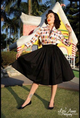 Pinup Couture Lauren Top M BNWT Rockabilly Pug Retro Shirt Harlequin Novelty | eBay