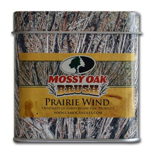 Prairie Wind by Camo Candles has a sweet fragrance of Incense and Cloves which reminds you of sweets cooking in the camp kitchen.  Ideal for kitchens and offices where you want inviting smells that attract attention.  Prairie Wind is packaged in our exclusive printed tins with the Mossy Oak@ Brush Pattern printed directly onto the tin.