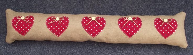 Hessian Draught Excluder made to order any size, design & colour £15 + P&P