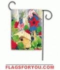 Red, White and Blue Birdhouse Garden Flag - 1 left