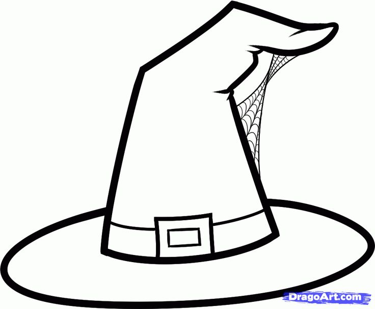 witch hat coloring pages google search - Witch Coloring Pages