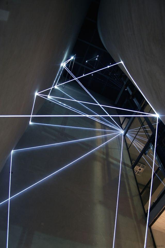 La Rivincita dell Angolo   Italian designer and artist Carlo Bernardini plays with light and space to create monumental light installations