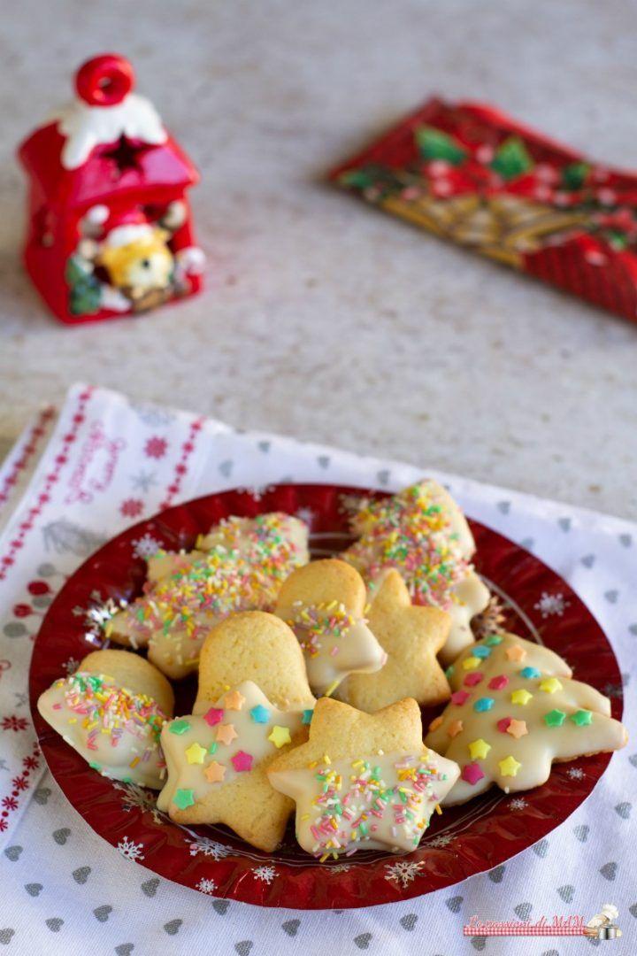 Biscotti di Natale con cioccolato bianco