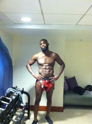 Jon Jones a few days out from UFC 145. He will need to cut about 15 lbs before the fight. #MMA