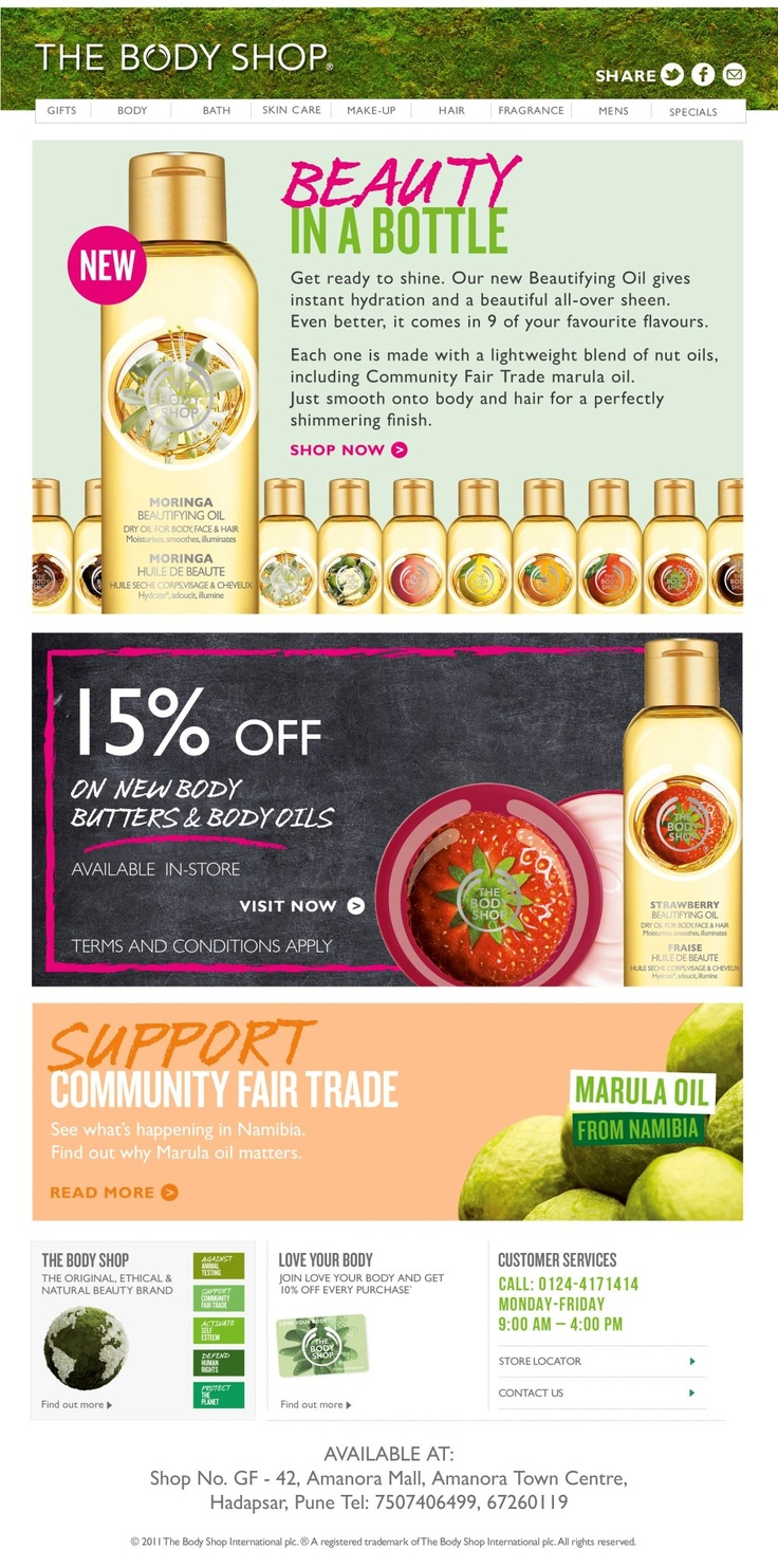 End of Season sale at The Body Shop - Amanora Town Centre