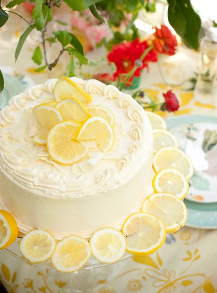 Lemon Wedding Cake  I don't care about the looks, just give me some lemon cake!