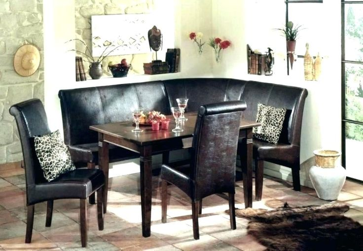 breakfast nook corner dining set table with storage bench
