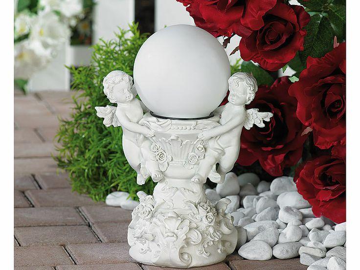 """Lunartec """"Engelsbrunnen"""" mit Solar-LED-beleuchteter Kugel"""