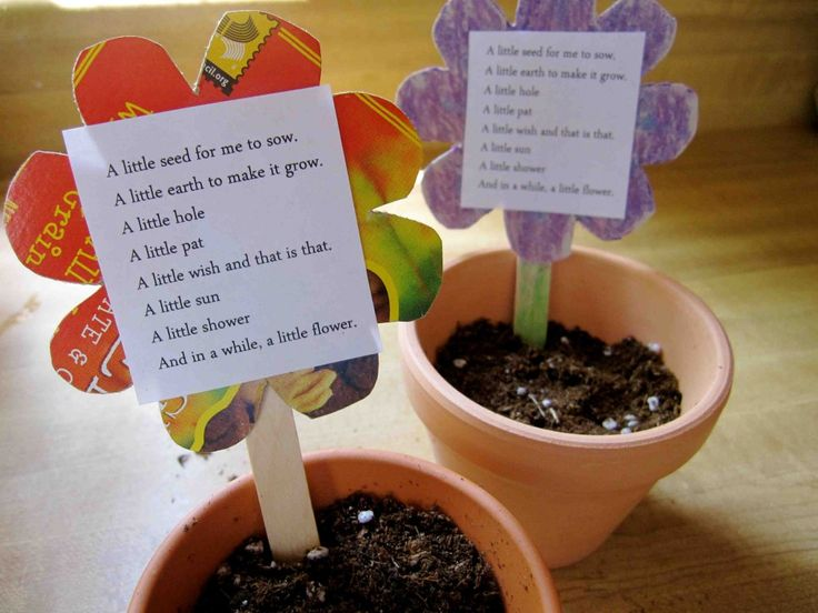 Plant a Poem, Plant a Flower craft for Earth Day and Poetry Month