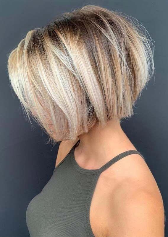 Stufenschnitt Frisuren 2020 Frauen Bob In 2020 Haarschnitt Haarschnitt Kurz Kurzhaarfrisuren