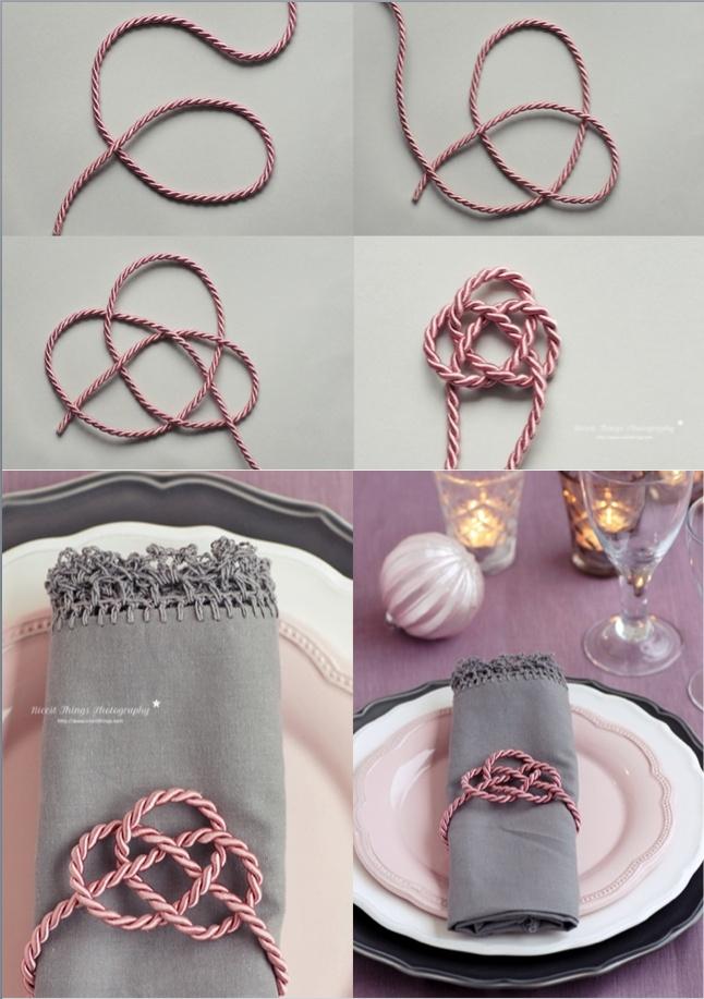 Chinesischer Knoten Gleiche Kordel um die Blumengläser wäre schön