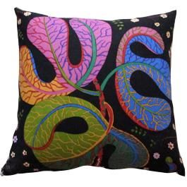 Pillow with Teheran fabric design by Josef Frank