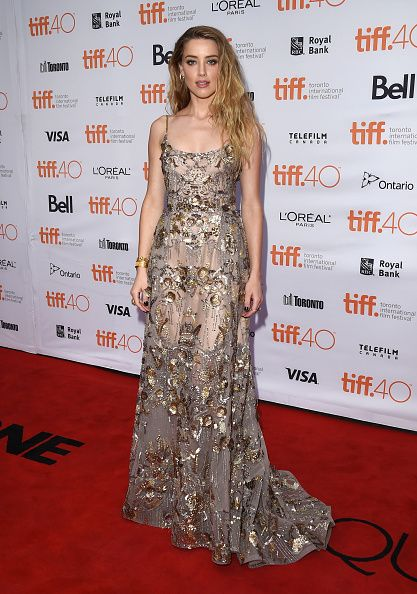 "Amber Hear in Elie Saab Fall 2015 Couture at the Toronto International Film Festival Premiere of ""The Danish Girl"""