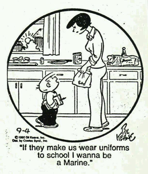 Guess Marines have the best uniforms! In Billy's mind anyway...