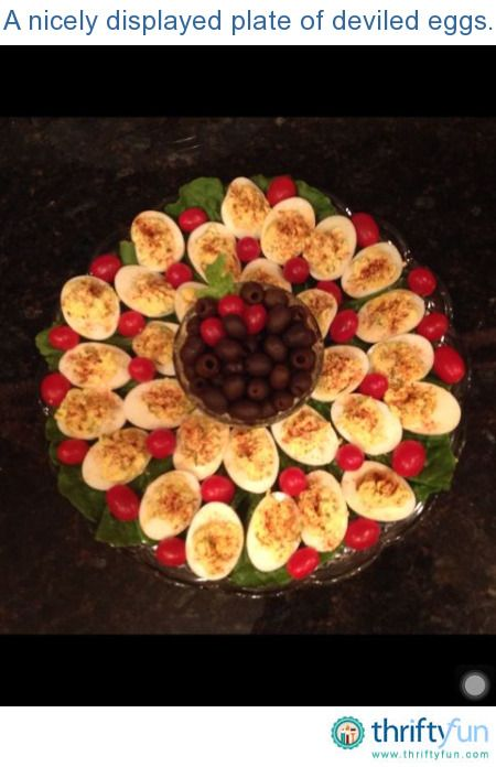 "When preparing food, I try to present my dishes as ""pretty"" as I can with what I have have on hand.  Rather than just throwing some delicious deviled eggs on a plate, I line my tray with lettuce, spinach or whatever green I have."
