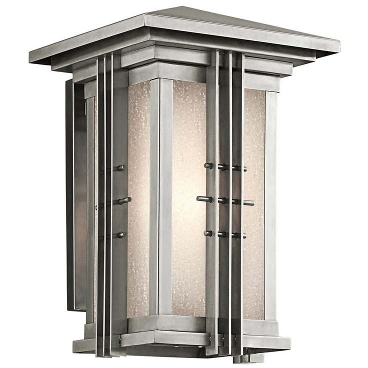 Porch light  318 Kichler Lighting Portman Square Outdoor Wall Light 49159SS29 best porch lighting images on Pinterest   Porch lighting  . Kichler Lighting Outdoor Sconce. Home Design Ideas