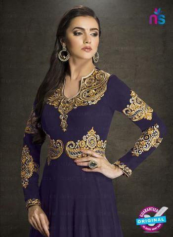 AZ 3906 Blue Faux Georgette Anarkali Suit