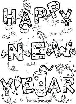 kid 2018 new year printable