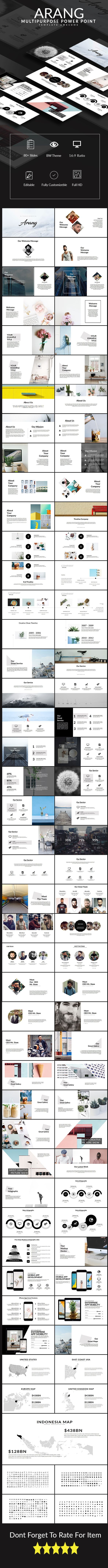 Arang Multipurpose PowerPoint Presentation Template