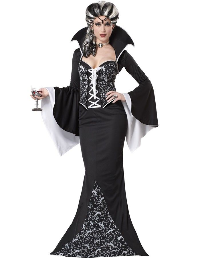 Royal Vampiress Womens Costume | Halloween Vampire Party ...