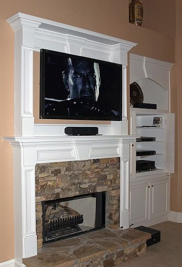 1000 Images About Fireplace Ideas On Pinterest Cable Box Corner Fireplaces And Mantels