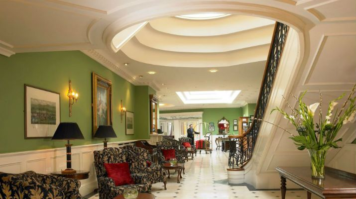 The lobby of the 4* Dromhall Hotel, Co. Kerry