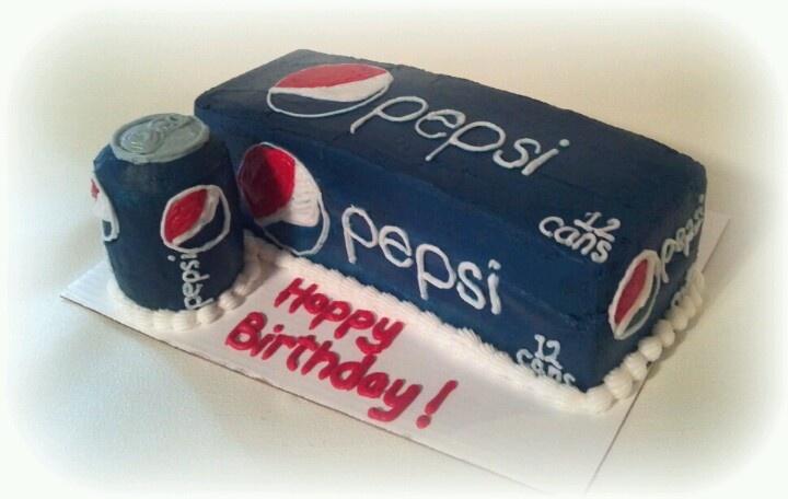 Pepsi 12pk birthday cake!