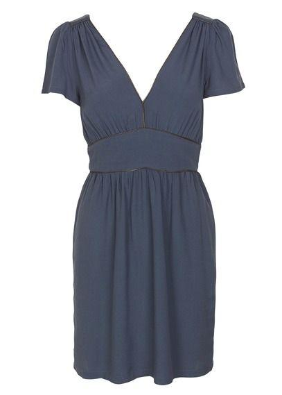Robe courte décolletée dos Dorothy Parker  Bleu by SESSUN