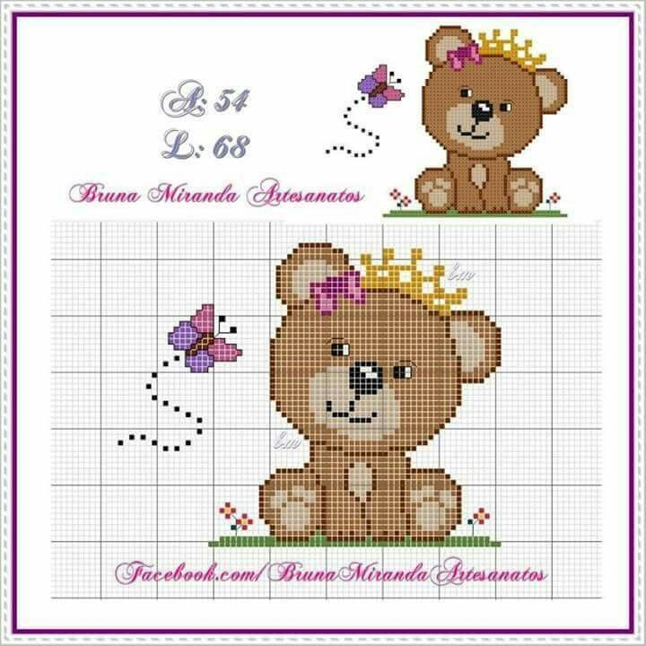 Bear cross-stitch