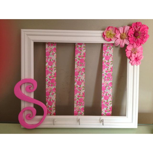 Hang on wall. Clip hair bows and hang headbands for your baby or little girl.