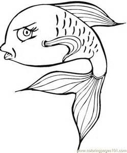 Coloring Pages Aboriginal Fish Animals Fishes Free Printable