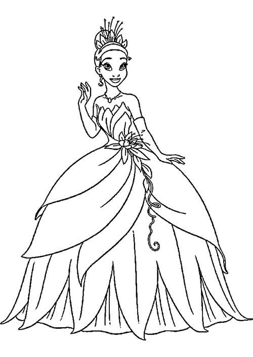 Disney Princess Tiana Printable Coloring Pages Princesses See More 50 Desenhos De Princesas Para Colorir Pintar