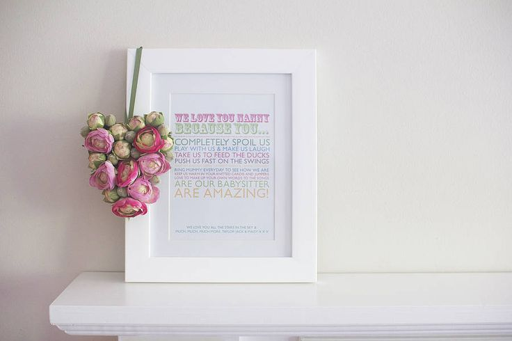 'i love you because' print by pickle pie gifts | notonthehighstreet.com