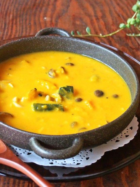 簡単✿南瓜ときのこの濃厚クリームスープ by emyo [クックパッド] 簡単おいしいみんなのレシピが224万品