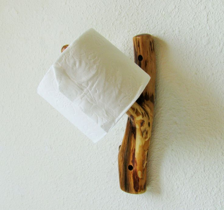 Juniper Tree Branch Wall Hook for toilet paper holder, unique towel hook, log cabin decor, unusual modern decor, hat rack, outhouse decor by Hookedtonature on Etsy