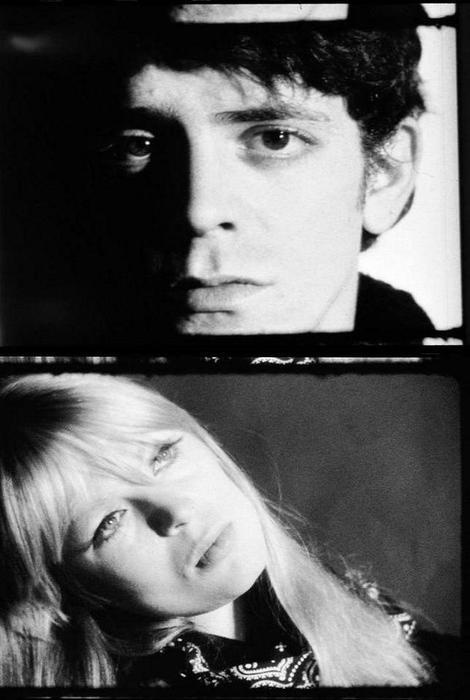 Stills of Lou Reed & Nico from Andy Warhol's Screen Tests. These movies were used in his Exploding Plastic Inevitable.