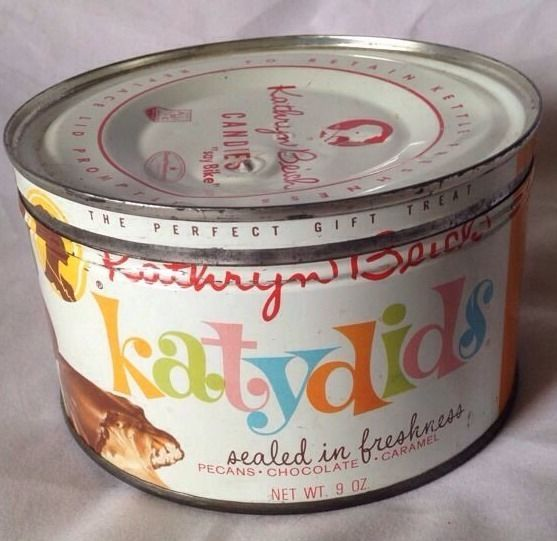 Vintage 1940s Key-opened Tin, Kathryn Beich Katydids(Candies) 9 Oz. $4.99 (+ $6.99 s/h)