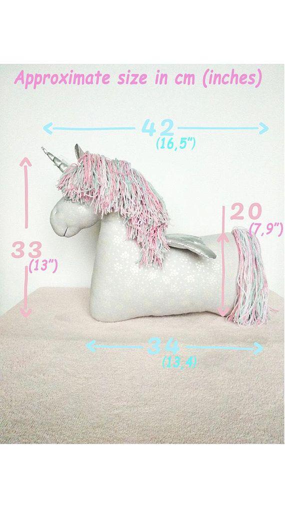 Unicorn Toy - Toy Pillow - Stuffed Unicorn - Nursery Decor - Unicorn ...