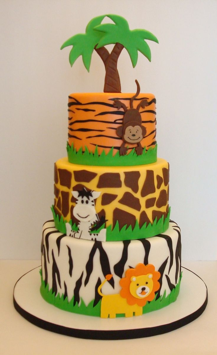 Jungle Themed Baby Gifts Uk : Best zoo birthday cake ideas on