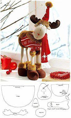 Новогодний лось / Мягкие игрушки, Шитьё / В рукоделии