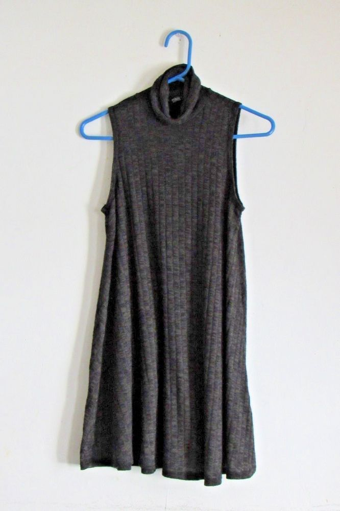 19a4e3c4855e8d Juniors Forever 21 Knit Swing Dress Sleeveless W  Turtle Neck Collar. SZ S   FOREVER21  Pullover  Any