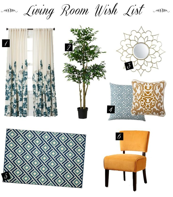 Living Room Wish List 7 Affordable Blue Gold Mustard Items